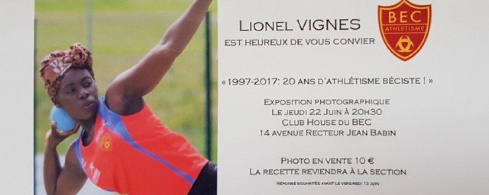 Athlétisme – Invitation Expo Photo